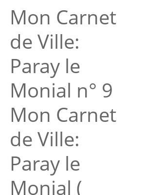 """Afficher """"Mon Carnet de Ville: Paray le Monial n° 9 Mon Carnet de Ville: Paray le Monial ( juin 2019)"""""""